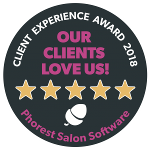 Our clients love us! Client Experience Award 2018 from Phorest Salon Software