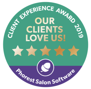 Our clients love us! Client Experience Award 2019 from Phorest Salon Software