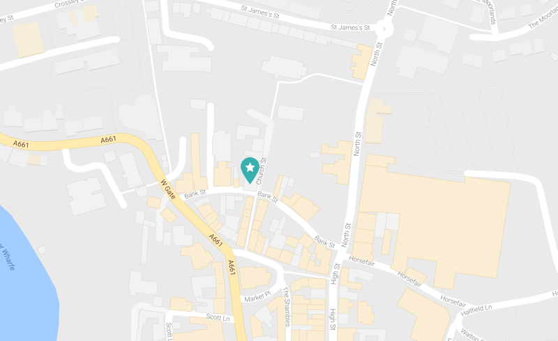 Map of our clinic location in Church Street, Wetherby
