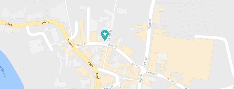Map of 15 Church Street, Wetherby - Innersense Aesthetics